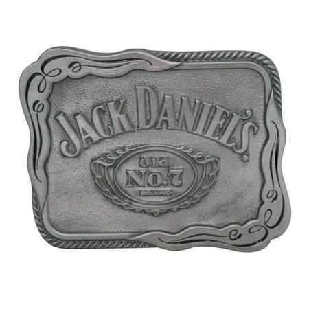 Jack Daniels Belt Buckle (Jack Daniels Silver Scroll Belt Buckle )