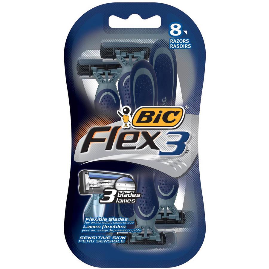 BiC Flex 3 Razors, 8 count