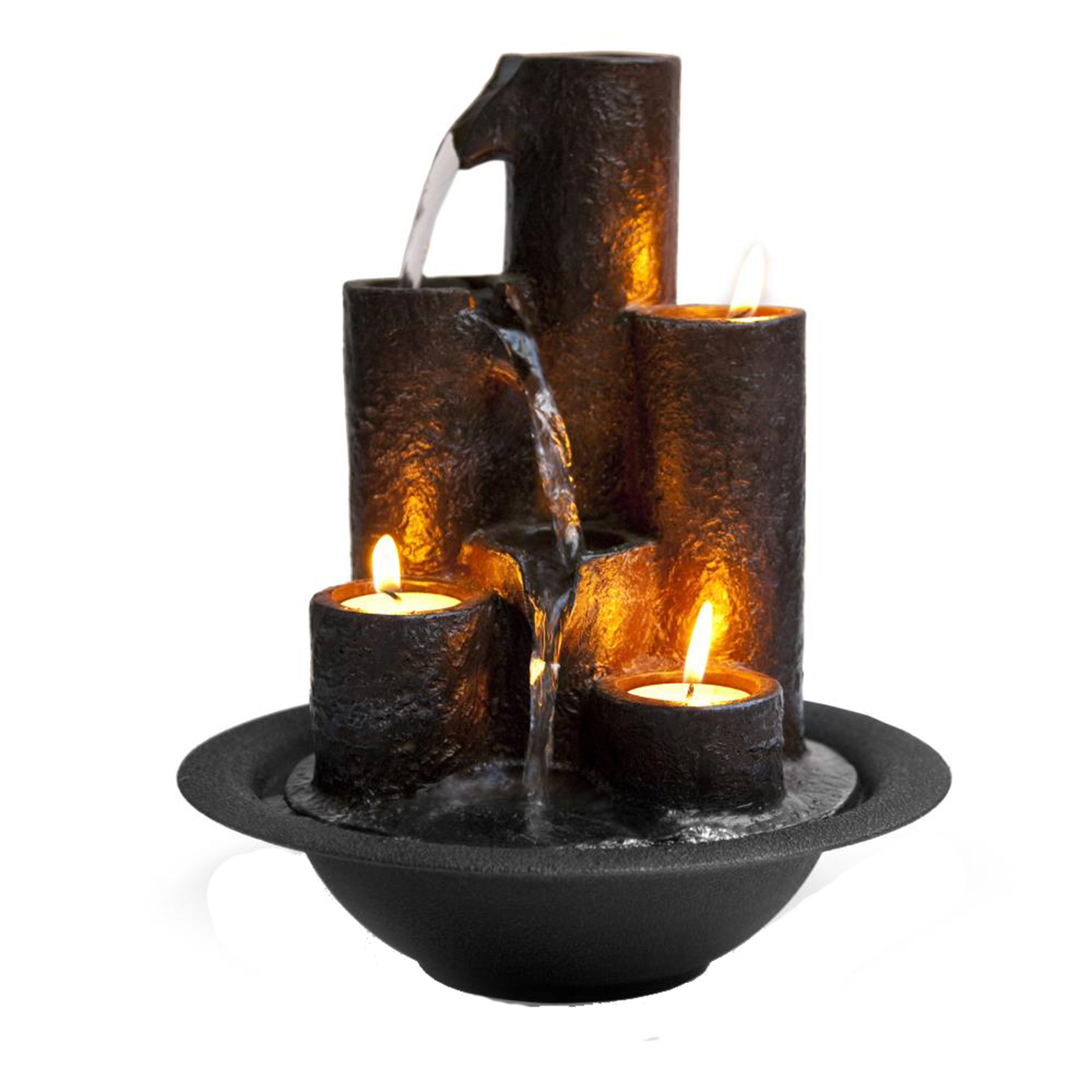 Water Fountain Relaxing Tabletop Water Feature Decoration by Serene Life