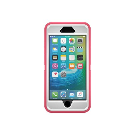 OtterBox Defender Series Apple iPhone 6 Plus - Protective case for cell phone - rugged - polycarbonate, synthetic rubber - white, blaze pink - for Apple iPhone 6 Plus (Iphone Six Otterbox Defender Case)