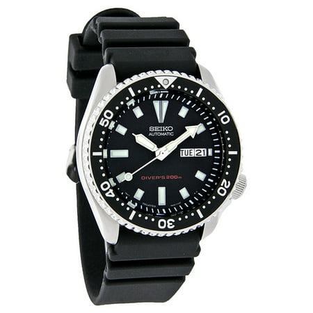 39c5341d651 Seiko - Divers Mens Day Date Black Rubber Band Automatic Watch SKX173 -  Walmart.com