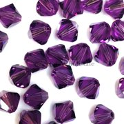 36 pcs Swarovski crystal 5328 / 5301 6mm AMETHYST (204) Genuine Loose Bicone Beads