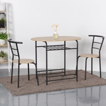 walmart kitchen furniture gymax 3 piece dining set home kitchen furniture table and 2 chairs natural walmart com 5101