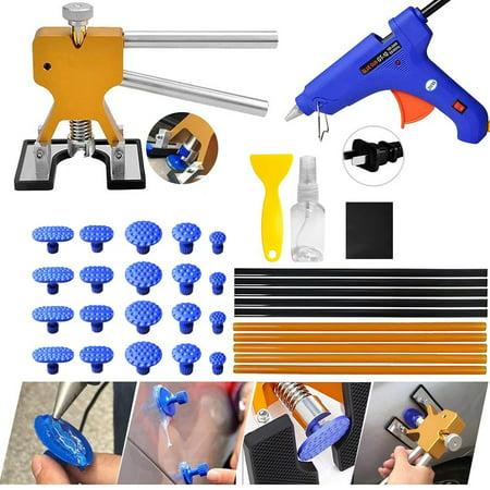 Paintless Dent Repair Tools - Car Dent Removal Kit Golden Dent Lifter Puller Kit Safe Glue Sticks Pops a Dent Tool for Car Dent Door Ding Hail Dent Remover