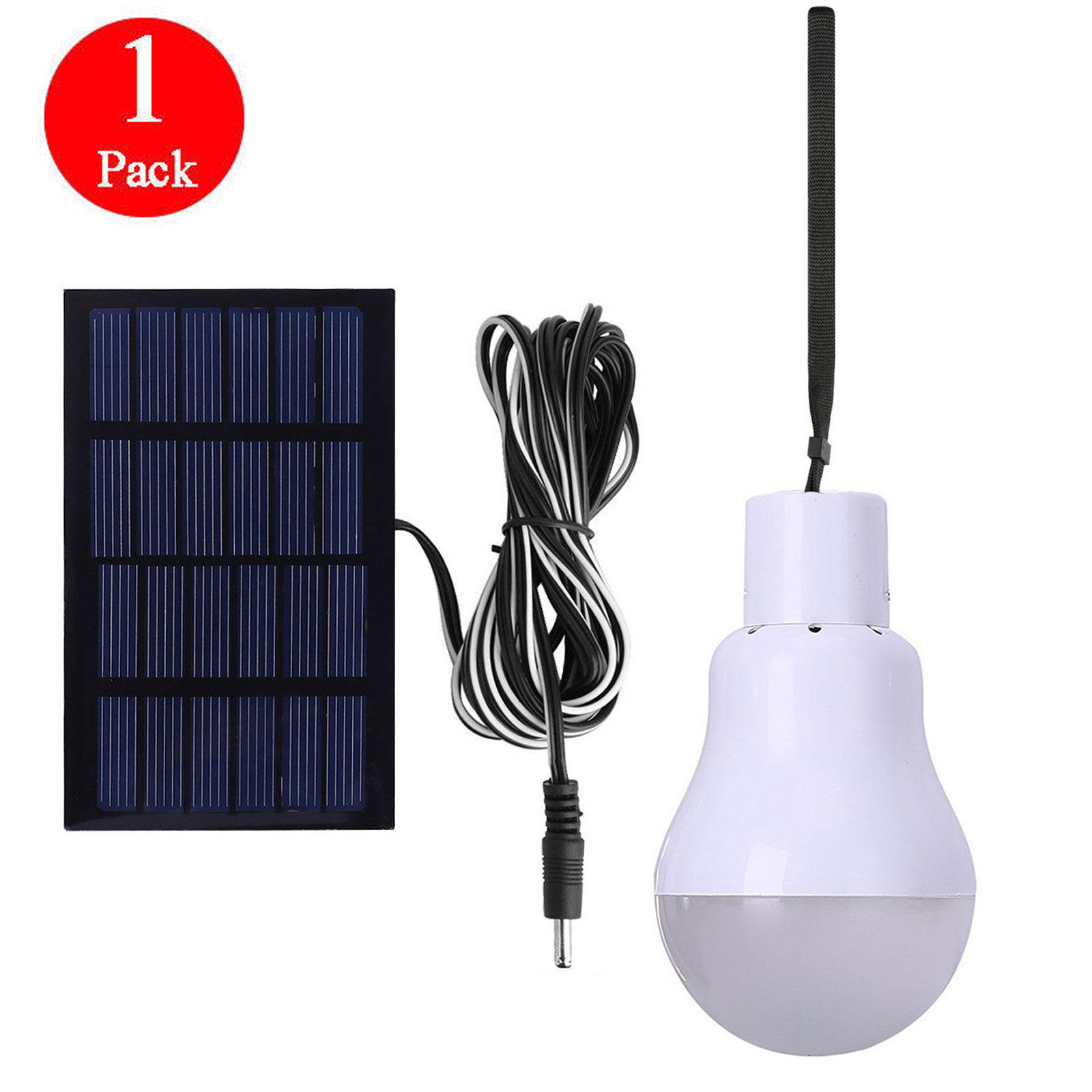 EEEKit Portable Solar Powered Led Bulb Lights Solar Energy Panel Led Lamp Lighting for Hiking Fishing Camping Tent Emergency Use