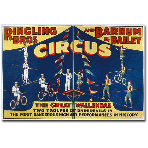 "Trademark Art ""Ringling Brothers and Barnam & Bailey Circus"" Canvas Wall Art"