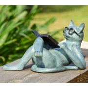 San Pacific International Literary Cat Garden Sculpture