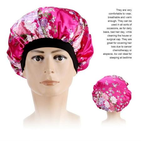 LHCER Womens Hair Loss Head Scarf Cancer Hat Chemo Cap Turban Head Wrap Cover Satin Sleeping Cap, Chemo Cap,Hair Loss Head (Sleeping With A Scarf In Your Hair)