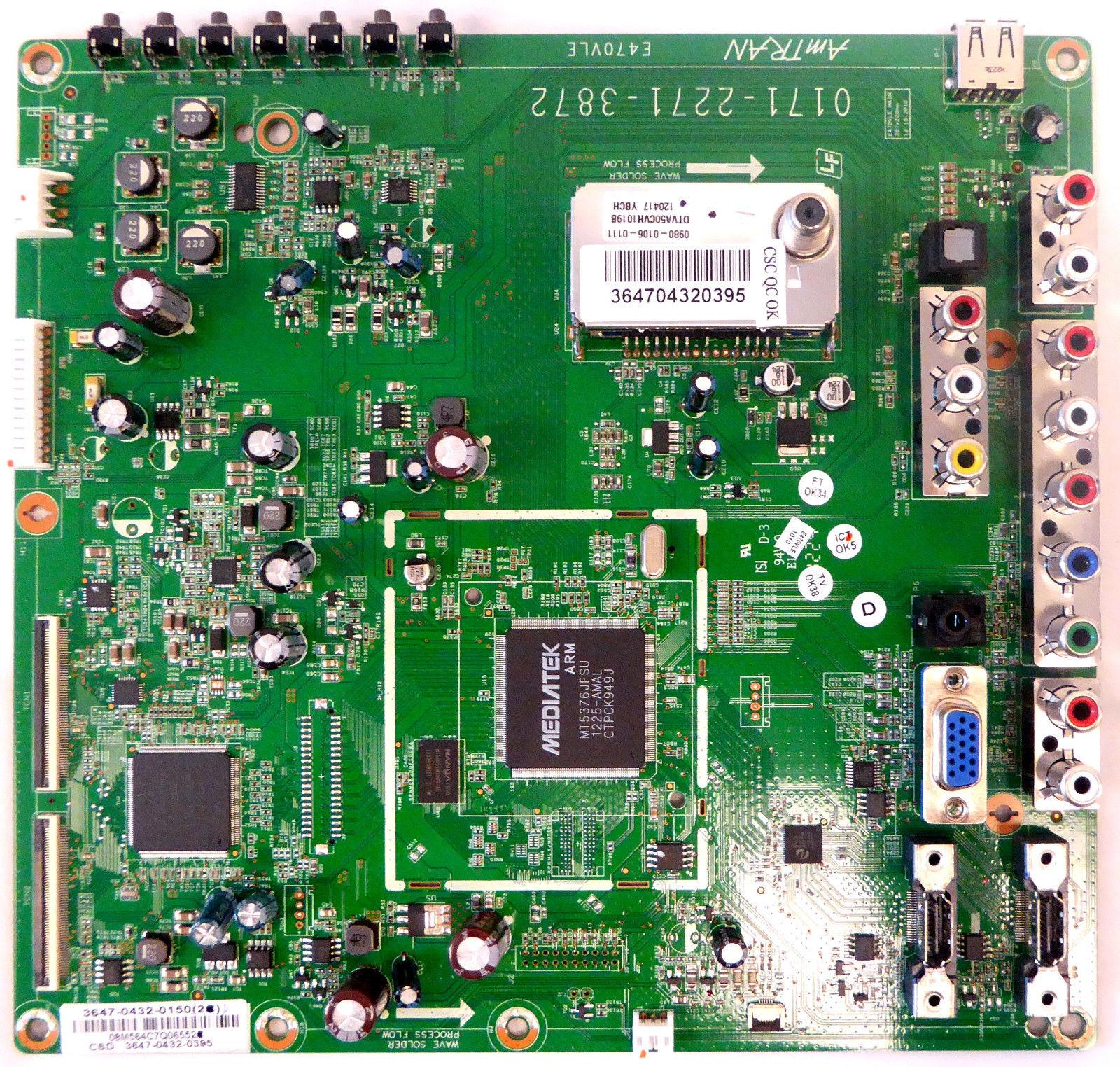 """Vizio Mainboard 3647-0432-0150 47"""" LCD HDTV 1080P E470VLE"""