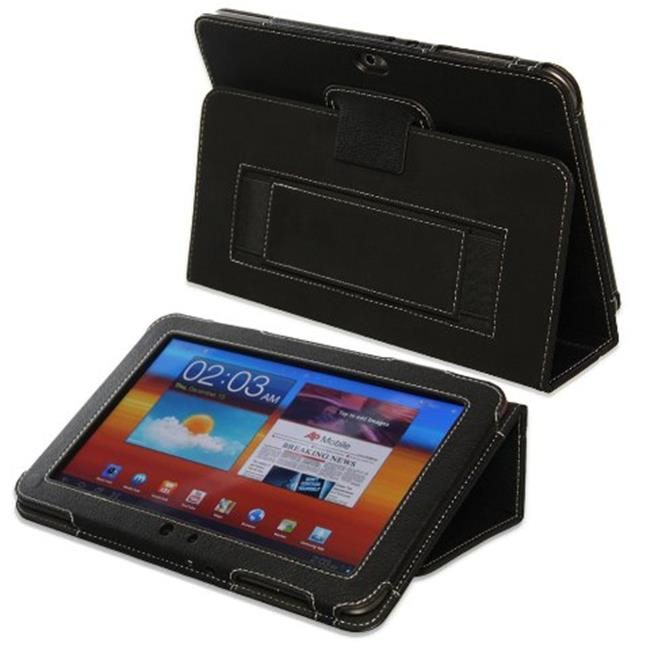 Snugg B006MVTT5S Galaxy Tab 8. 9 Case Cover and Flip Stand, Black Leather