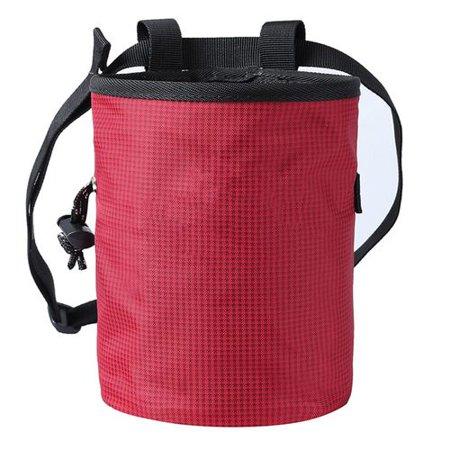 Fancyleo Rock Climbing Chalk Bag for Bouldering Gymnastics with Adjustable Waist Belt Black Hole Chalk Bag