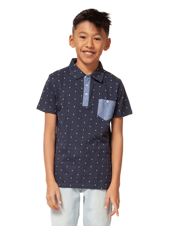 Boy's Printed Cotton Polo