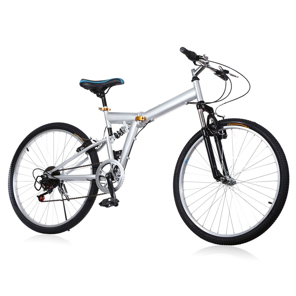 "New 26"" 6 Speed Folding Mountain Bike Sport Cycling Disc ..."