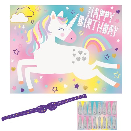 Unicorn Party Game, 16 Players, 18pcs - Hunger Games Party Supplies Party City