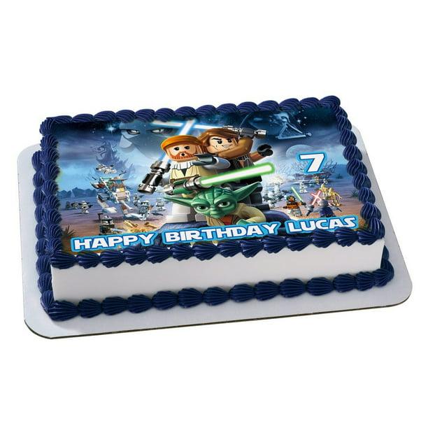 Excellent Star Wars Lego Quarter Sheet Edible Photo Birthday Cake Topper Funny Birthday Cards Online Amentibdeldamsfinfo