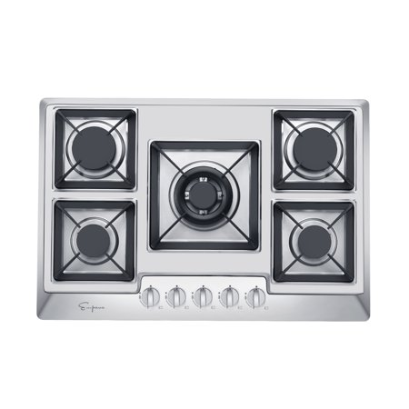 """Empava 30"""" Stainless Steel 5 Italy Sabaf Burners Stove Top Gas Cooktop EMPV-30GC0A2"""