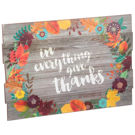 Harvest Give Thanks Wood Sign