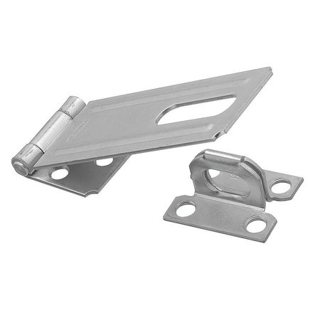 4FWD2 Hasp, Fixed, Steel, Zinc Plated, 4-1 2 In. L by National Hardware
