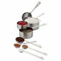 Amco 8 Piece Stainless Steel Measuring Spoon Set, Dishwasher Safe