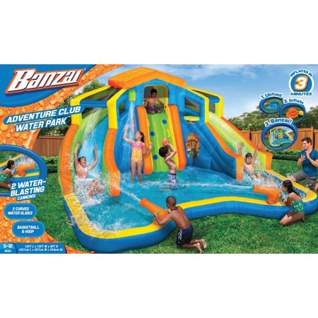 b681671b9005 Banzai Adventure Club Water Park (Dual Inflatable Water Slides ...