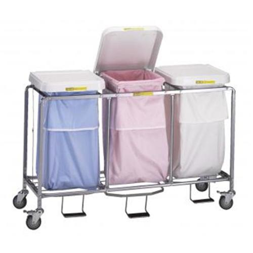 R & B Wire 686 Triple Leakproof Hamper with Foot Pedal