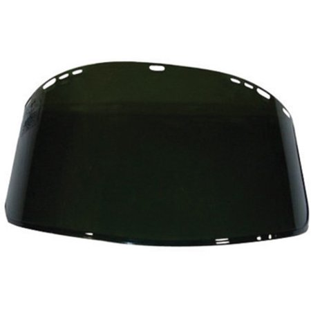 Kimberly-Clark Professional* Jackson Safety* Model F40 9'' X 15 1/2'' X .06'' Dark Green Unbound Propionate Faceshield For Use With Headgear