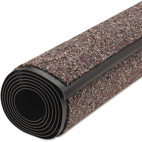 Crown Classic Nylon/Olefin Berber Wiper Mat, 36 X 120, Brown