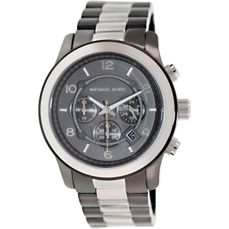 Michael Kors Mens Runway MK8182 Grey Stainless-Steel Japanese Quartz Dress Watch