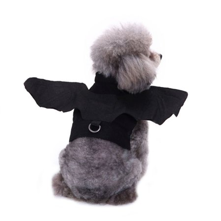 SWEETLIFE Pet Dog Costume Bat Wings for Halloween Harness Costume Clothes