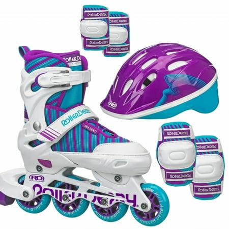 Carver Girl's Inline/Protective Skate Pack (Outdoor In Line Skates)