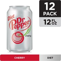 Diet Dr Pepper Cherry Soda, 12 fl oz cans, 12 pack