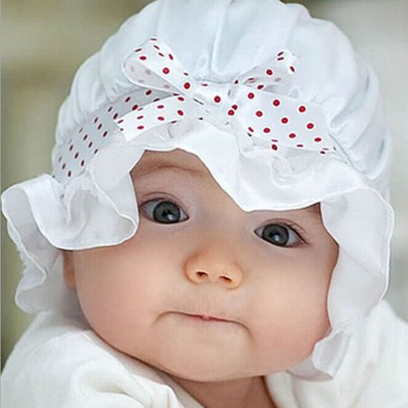 Newborn Baby Girl Boy Summer Sun Polka Dots Beanie Hat Cap 2-12 Months WH - Hot Superhero Girls