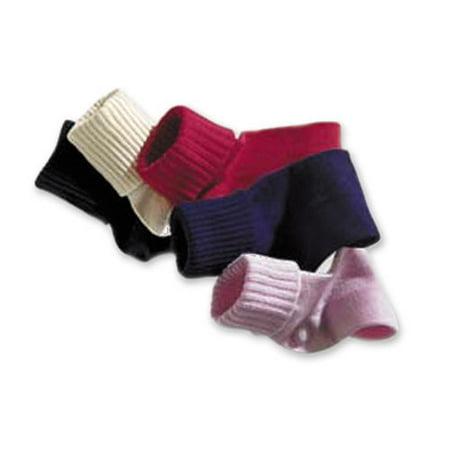 1 Pair of Tic Tac Toe Triple Roll Seamless Toe Hand Linked Cotton Socks (7-8 1/2 (5-9 Years), Black) ()