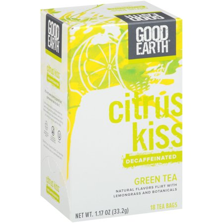 Good Earth ® Citrus baiser ™ décaféiné thé vert 18 ct Boîte