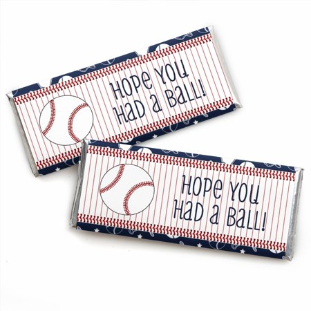 Batter Up - Baseball - Candy Bar Wrappers Birthday Party Favors - Set of 24 (Baseball Party)