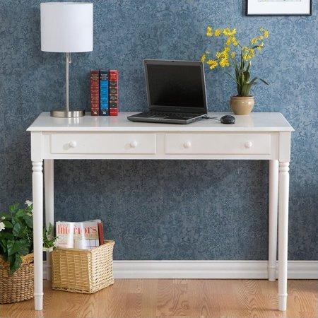 Southern Enterprises Wood Writing Computer Desk in Crisp White - image 9 de 9