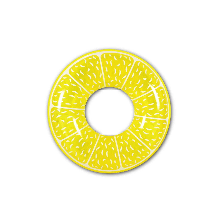 Swimline 60-Inch Inflatable Heavy-Duty Swimming Pool Lemon Slice Float9054