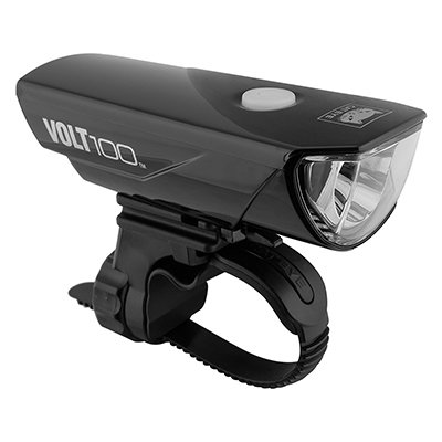 CatEye Volt 100 Rechargeable Headlight HL-EL150RC Chrome Black