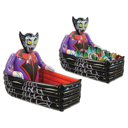 Morris Costumes Party Supplies Halloween Inflate Vampire Coffin Cooler, Style BG00019
