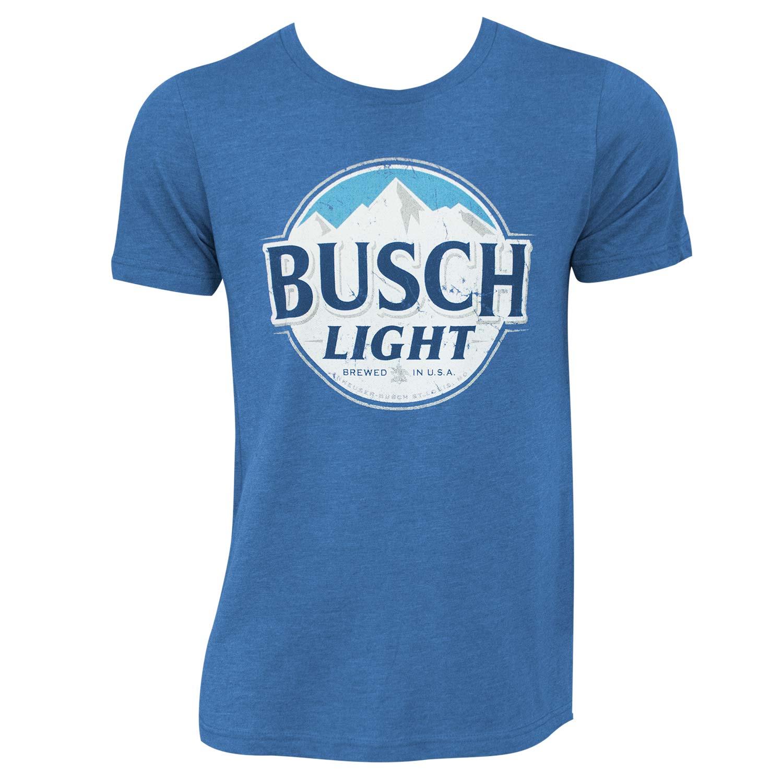 Busch Light Heather Round Logo Tee Shirt