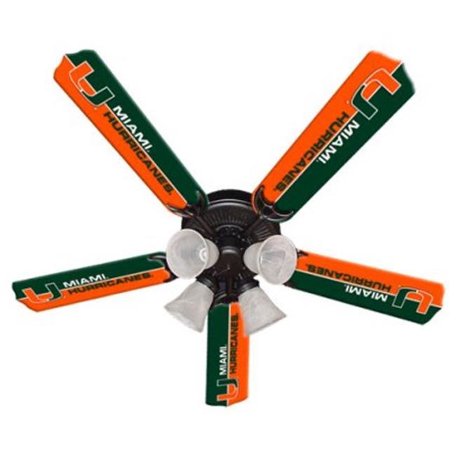 Ceiling Fan Designers 7995-MIA New NCAA MIAMI HURRICANES 52 in. Ceiling Fan