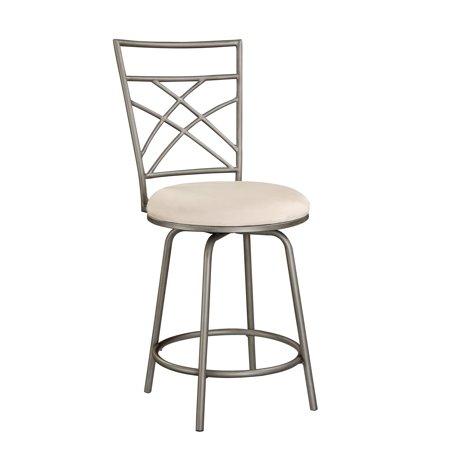 Marvelous Criss Cross Counter Stool Pewter Walmart Com Lamtechconsult Wood Chair Design Ideas Lamtechconsultcom
