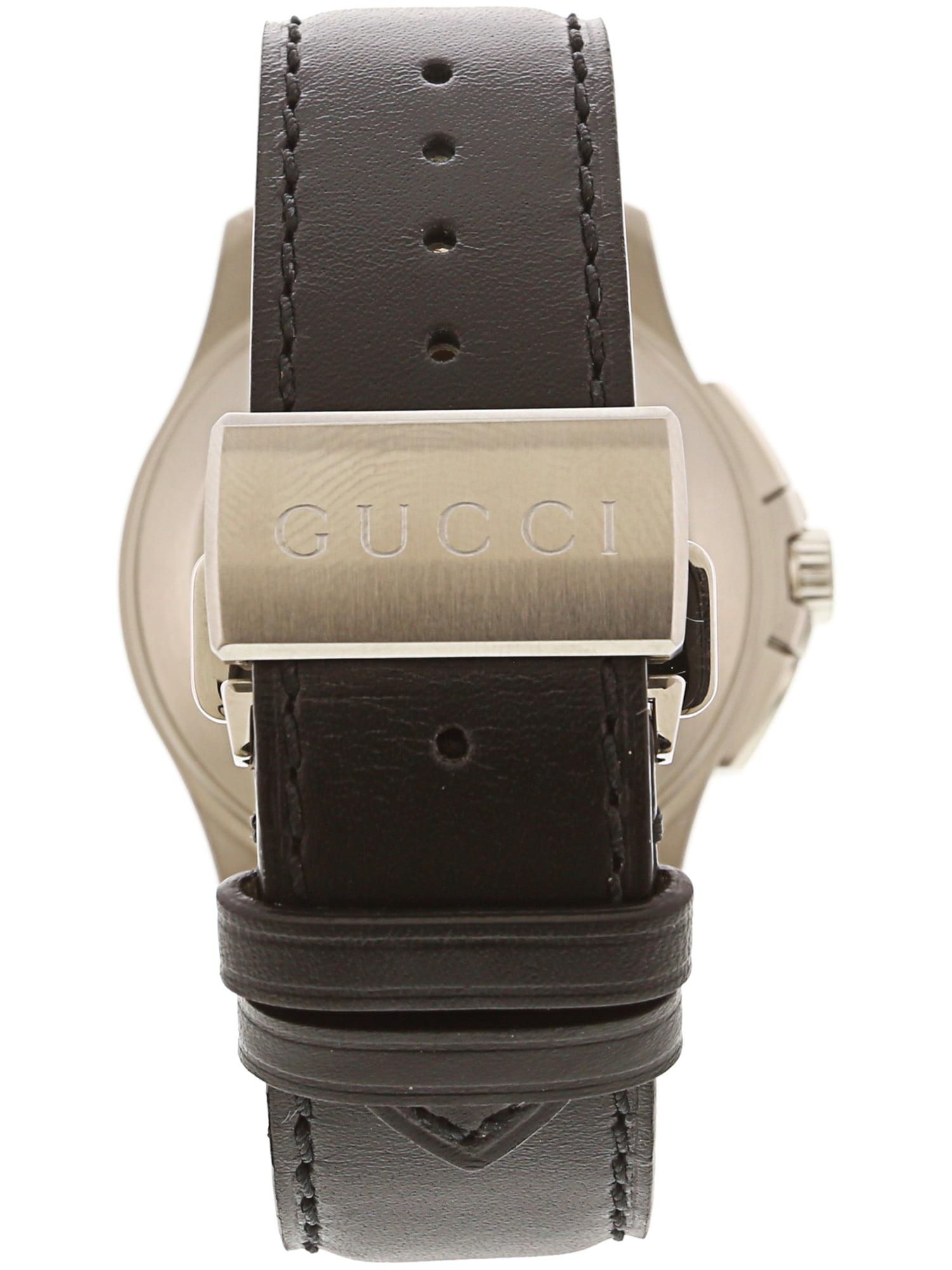9ba0331a7d9 Gucci - Men s G-Timeless YA126265 Silver Leather Swiss Automatic Dress Watch  - Walmart.com