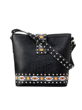 86501fb47143b Product Image Blazin Roxx Western Handbag Womens Shoulder Beaded Black  N7551401