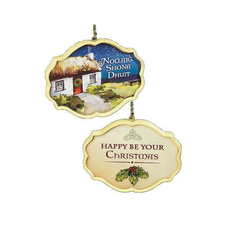 Abbey Press - New Irish Christmas Ornament Two Sided Nollaig Shona Dhuit Abbey Press