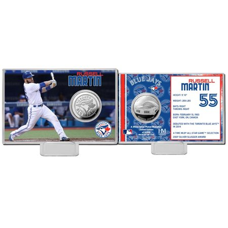 Russell Martin Toronto Blue Jays Highland Mint Mint Player Silver Collector Coin Card - No Size