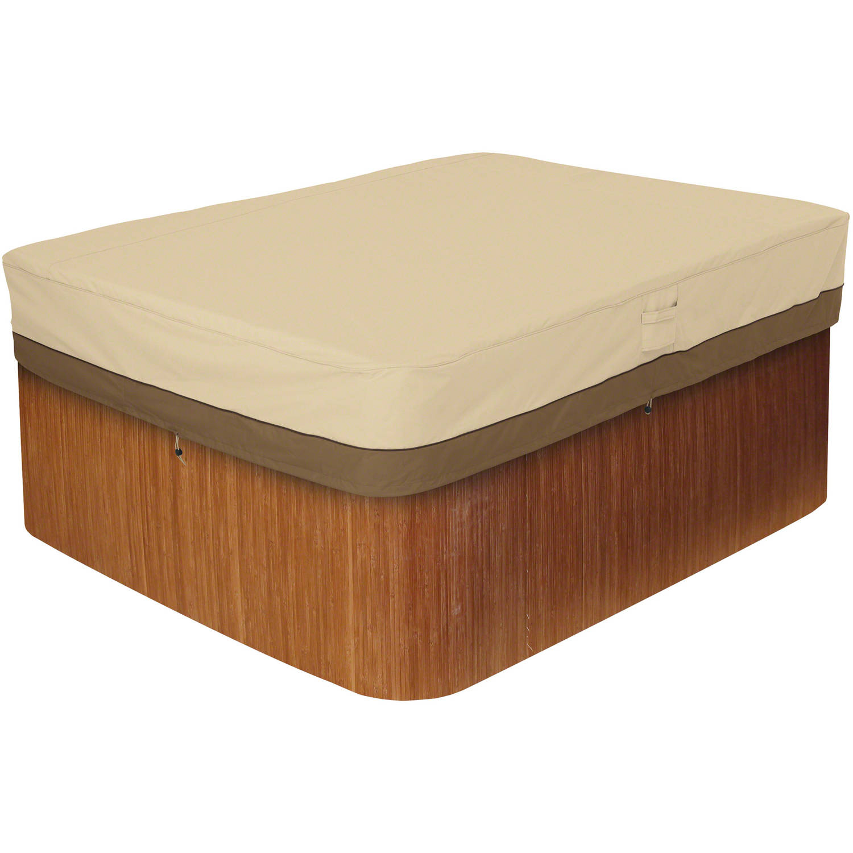 Classic Accessories Veranda Rectangular Spa and Hot Tub Storage Cover, Pebble by Classic Accessories