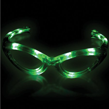 Supreme Light Up Blinking Sunglasses LED Glasses, Green, One (Supreme Sunglasses)