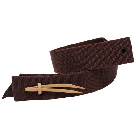 Horse Brown Heavy Nylon Tie Strap Western Saddle w/ holes Tack 97S04