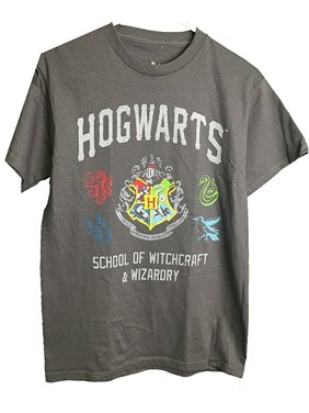 160e4640 Product Image Harry Potter Hogwarts School of Witchcraft & Wizardry Adult T- Shirt Slate Gray (XX
